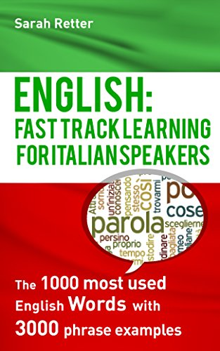 ENGLISH: FAST TRACK LEARNING FOR ITALIAN SPEAKERS: The 1000 most used English words with 3.000 phrase examples.: If you want to improve your English and ... this book is for you. (English Edition)