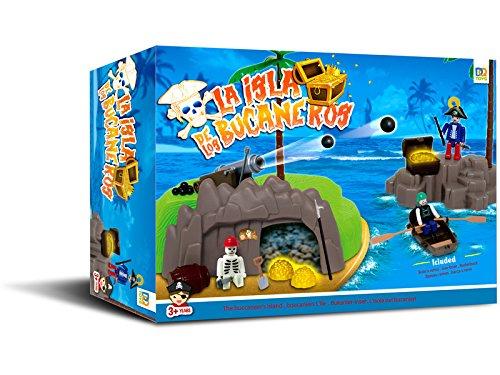DQTOYS Isla Pirata con Bote a Remos: Amazon.es: Juguetes y juegos