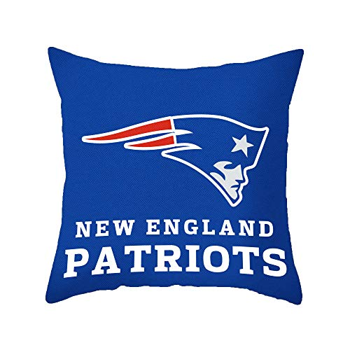 - Throw Pillow Covers Rest and Sleep Double Pillowcase Solid Color Decoration Team Logo 18x18 Inches (New England Patriots)