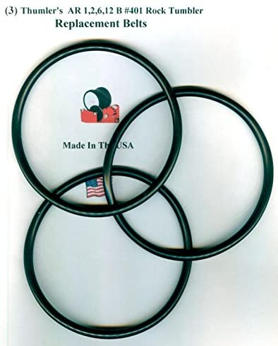 Replacement Drive Belt for Thumlers AR 1,2,6,12 B #401 Rock Tumbler-10 Pack