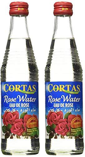 - Cortas Premium Rose Water 10 oz - Pack 2