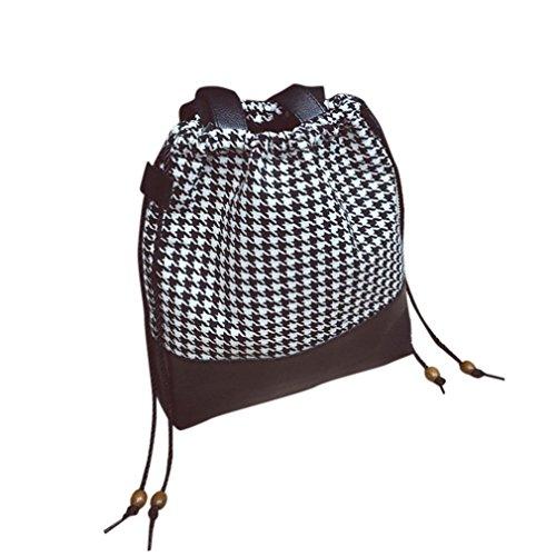 ZARU Frauen Art und Weise Retro- Handtasche Schultertasche Large Tote Schwarz XWCIzxil