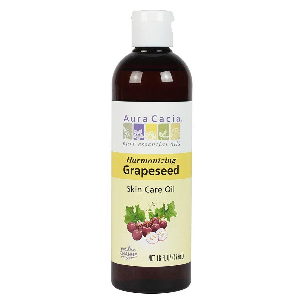 Harmonizing Grapeseed Skin Care Oil with Vitamin E, 16 Fluid Ounces by Aura Cacia Pure Essential Oils