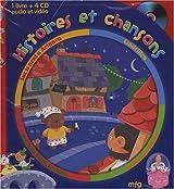 Histoires et chansons : Sur le pont d'Avignon ; Cendrillon ; Les Trois petits cochons ; Au clair de la lune (4CD audio)