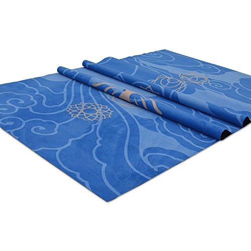 YOZOE Flannelette natural rubber yoga mat (Blue)