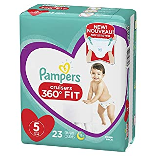Pampers Cruisers 360˚ Fit Diapers Size 5 23 Count
