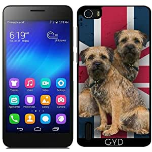 Funda para Huawei Honor 6 - Border Terrier En Union Jack by Tanya