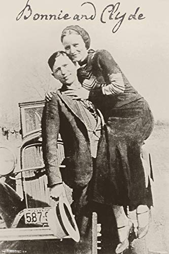 Trends International 24x36 Bonnie and Clyde Clip Bundle Wall Poster, 24