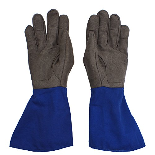 Long Cuff Rose Gardening Gloves - PROMEDIX - Rose Gloves, Cactus Gloves, Blackberry Gloves Thorn Proof Gloves for Man and Woman (M, Blue) by PROMEDIX