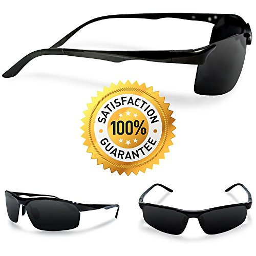 Polarized Sunglasses By EYE LOVE, Made w/ Military-Grade Unbreakable Metal