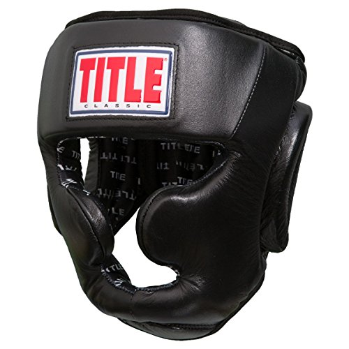 Full Face Training Headgear - TITLE Classic Training Headgear (Full Face), Black, Large
