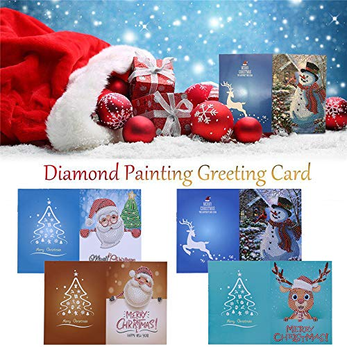 Hot Sale!DEESEE(TM)Christmas Greeting Card Cartoon DIY 5D Diamond Painting Gift Hand-made Festival