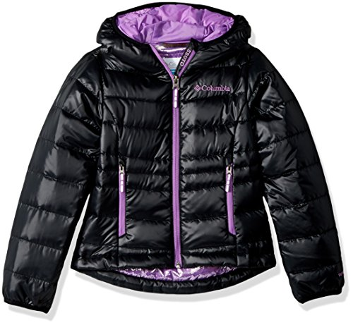 Girls 550 Black Jacket TurboDown Gold Columbia Down Hooded anTppF