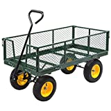 1000 lbs Heavy Duty Garden Trolley Cart Yard Garden Wagon
