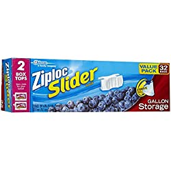 Ziploc All Purpose Slider Storage Bags - 1 gallons - 32 ct