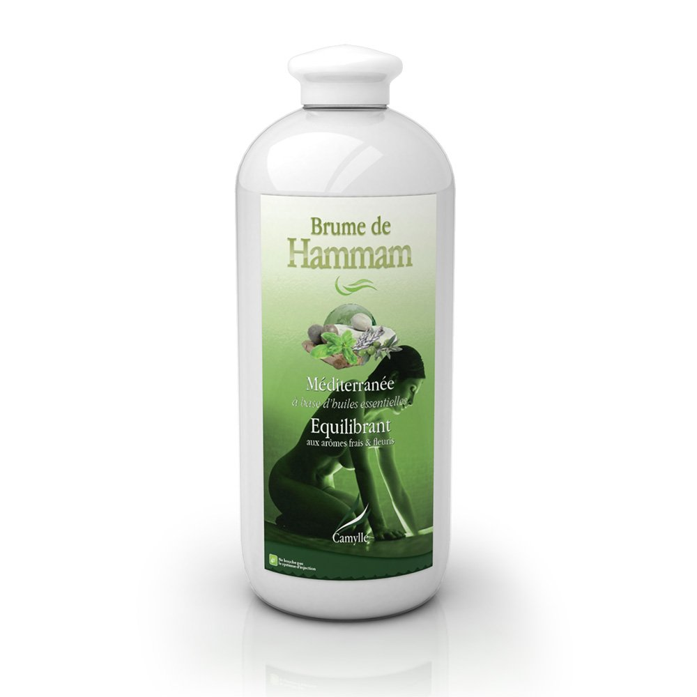 Camylle - Brume de Hammam - Emulsion d'huiles essentielles pour Hammam - Mé diterrané e - Equilibrant - 1000ml