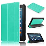 All-New Fire HD 8 2016 Case 6th Generation, Swees Slim Pu Leather Folio Flip Kidproof Protective Case with Stand for New Fire HD 8 Kids Tablet ( 6th Gen 2016 Release ) Mint Green