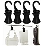neatfreak 4 Pack Plastic Hanging Accessory Hook Clips Closet Storage Travel Organizer