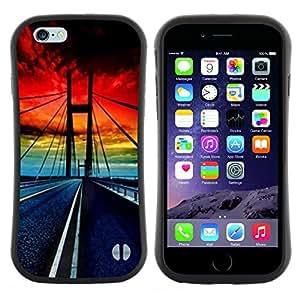 "Hypernova Slim Fit Dual Barniz Protector Caso Case Funda Para Apple (5.5 inches!!!) iPhone 6 Plus / 6S Plus ( 5.5 ) [Puente Golden Gate Sunset vibrante""]"