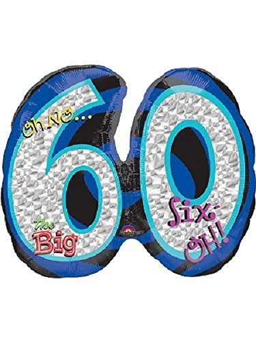 Mayflower BB32545 Oh No 60Th Birthday Shaped Balloon