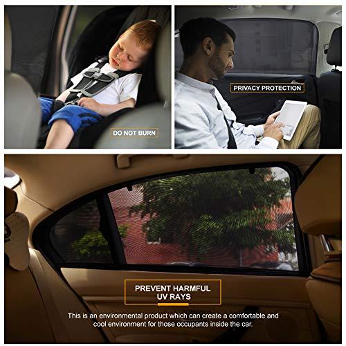 PHYLES Tendine Parasole Auto Bambini, Protegge il Bambino, Animali Domestici Contra Raggi UV, Adatto per la Maggior Parte Delle Auto, 2Pcs Parasole Auto
