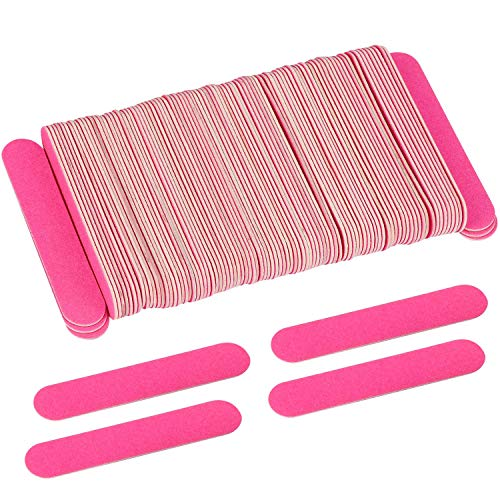 200 Disposable Mini Nail File 3.4 inch Double Sided Emery Boards Manicure Pedicure Tools 150 Grit