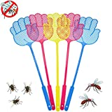 IYSHOUGONG 20 Packs Plastic Fly Swatter Long Handle Manual Swatter Fly Flapper Pest Control Tool,Color Random