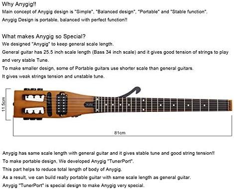 Guitarra eléctrica de Viaje portátil de edición Mejorada Anygig ...