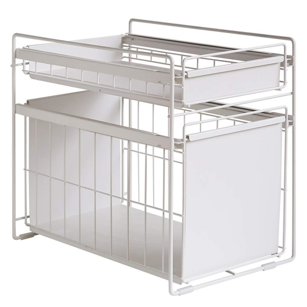 Kitchen storage rack Multi-layer Non-slip Sliding Easy to pick and place It is not easy to rust 39.4 44 28.8cm (Color : 39.44428.8cm)