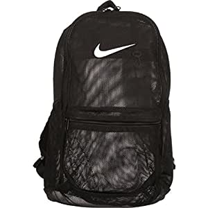 Amazon.com: Nike Brasilia Mesh Backpack - Black: Sports