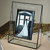 J Devlin Pic 319-57V EP548 Clear Glass 5x7 Picture Frame Vertical Portrait Personalized Wedding Engagement Photo Frame