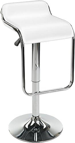 Displays2go Adjustable Modern Bar Stool