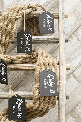 Nautical Woven Burlap Rope Garland 10 Feet Beachfront