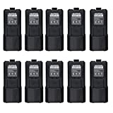 10pcs Original Baofeng BL-5L High Capacity 7.4V 3800mAh Li-ion Extended Spare Battery for Baofeng UV-5R DM-5R Plus Two-way Radio Serie (10, Black)