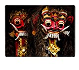 Liili Natural Rubber Placemat Image ID 15032865 a closeup of colorful traditional balinese masks