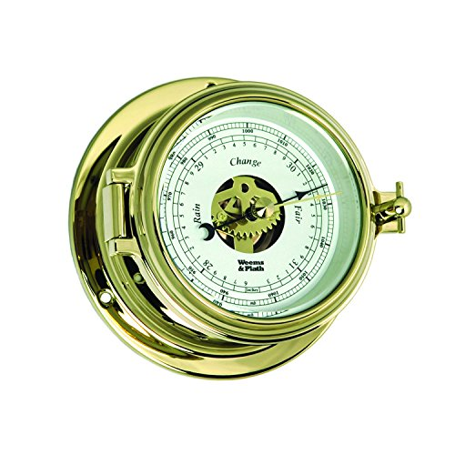 Weems and Plath Endurance II 105 Open Dial Barometer, Brass ()