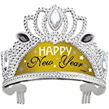 Plastic Silver and Gold New Years Tiara