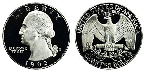 1992 S US Mint Deep Cameo Washington Silver Proof Quarter DCAM (Bu Washington Quarter Roll)
