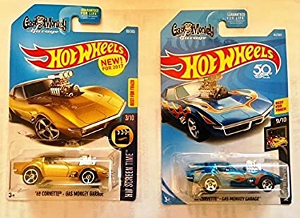 Amazon Com Hot Wheels 2017 And 2018 68 Corvette Gas Monkey Garage