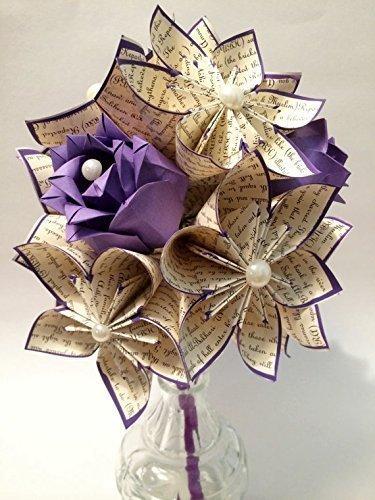 Amazon.com: Dozen I Love You Paper Flowers & Roses- You choose text ...