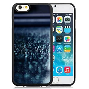 NEW Unique Custom Designed iPhone 6 4.7 Inch TPU Phone Case With Macro Water Drops Blue Surface_Black Phone Case
