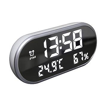 ANIUXIAOGE LED Monitor Despertador Día de Trabajo Digital Reloj Casa Termómetro Multifuncional Niño Habitación Estudiante Dormitorio Nedside Reloj (Negro): ...