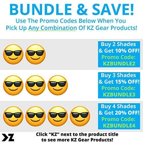 062213b1ae Amazon.com  KZ Gear - The Alpine FLOATING SUNGLASSES - Large Matte Navy  Frame - Classic Modern Shaped - Grey Polarized UV400 Lenses  Clothing