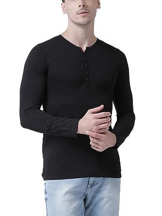 1c1df1ada6 Tinted Men's Cotton Lycra Henley T-Shirt