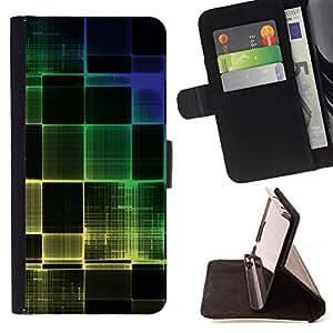 - Colorful Squared/ Personalizada del estilo del dise???¡¯???¡Ào de la PU Caso de encargo del cuero del tir???¡¯????n del s - Cao - For Sony Xperia Z1 Com