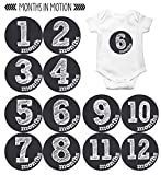 Months in Motion Monthly Baby Stickers Baby Boy or Baby Girl Chalkboard (1126)
