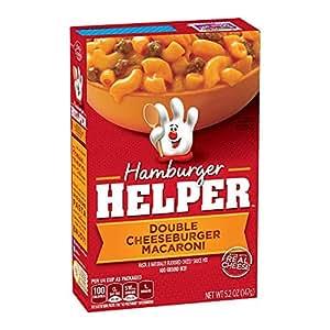 Amazon Com Hamburger Helper Double Cheeseburger Macaroni