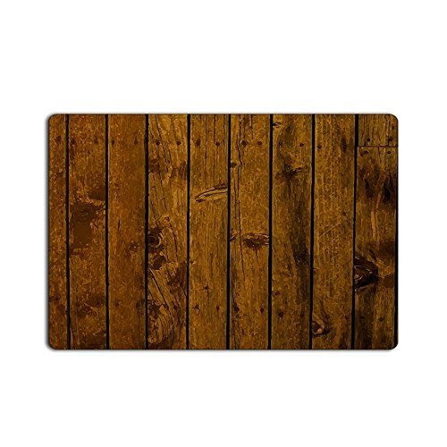 Libaoge Abstract Rustic Old Barn Wood Print Non-slip Rugs Carpets Alfombra Entrance Doormat (18x30, Color - Pattern Wood Brown