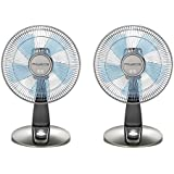 Rowenta VU2531 Turbo Silence Oscillating 12-Inch Table Fan Powerful and Quiet, 4-Speed, Bronze (2 Pack)
