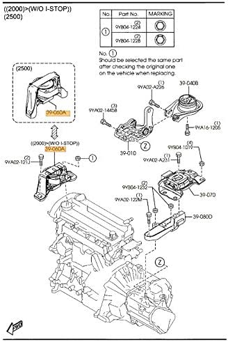 amazon.com: mazda engine mount oem new 2004-2010 mazda 3 2.0l -  bbm4-39-060d -: automotive  amazon.com